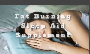Fat Burning Sleep Aid Supplement