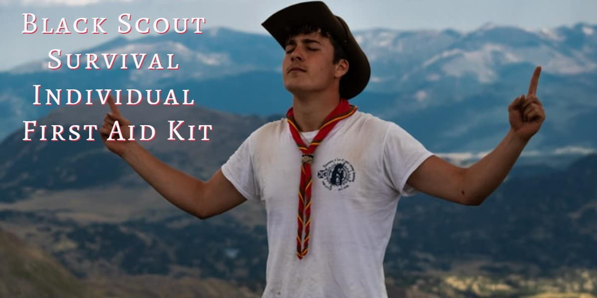 black scout survival individual first aid kit